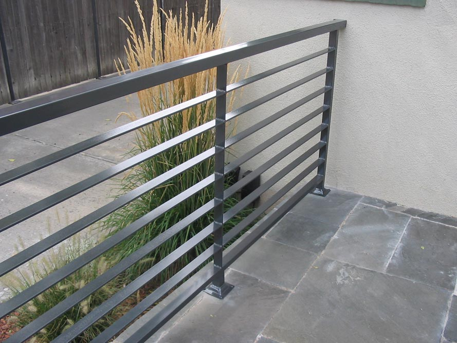 Taylored iron custom iron works taylored for you for Balcony steel railing designs pictures