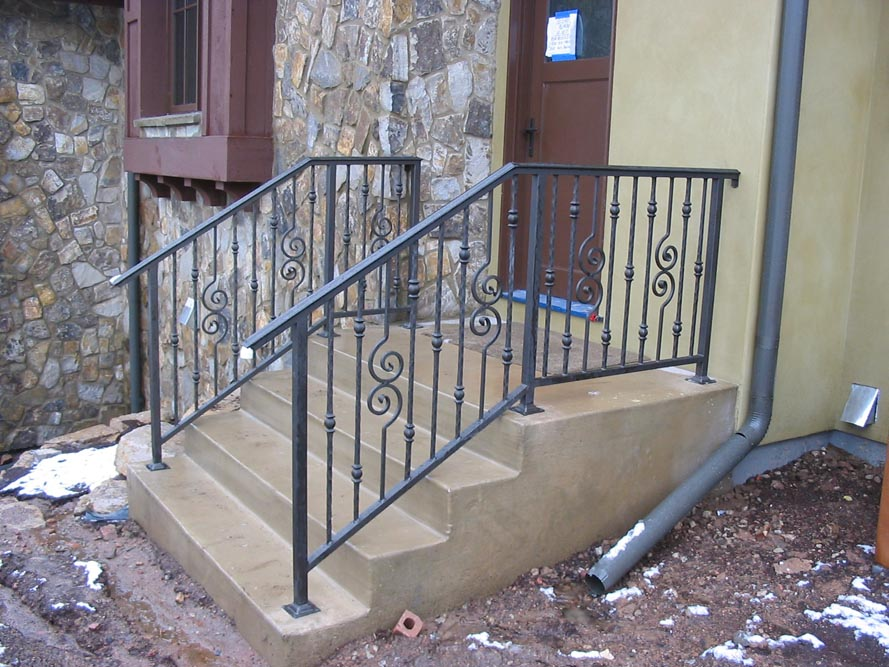 Taylored iron custom iron works taylored for you - Metal railings for stairs exterior ...
