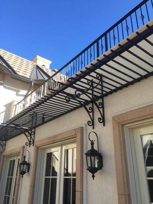 exterior awning canopies shade support
