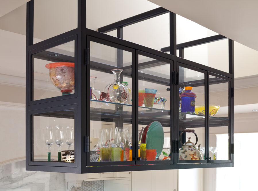 hanging glass display cabinet